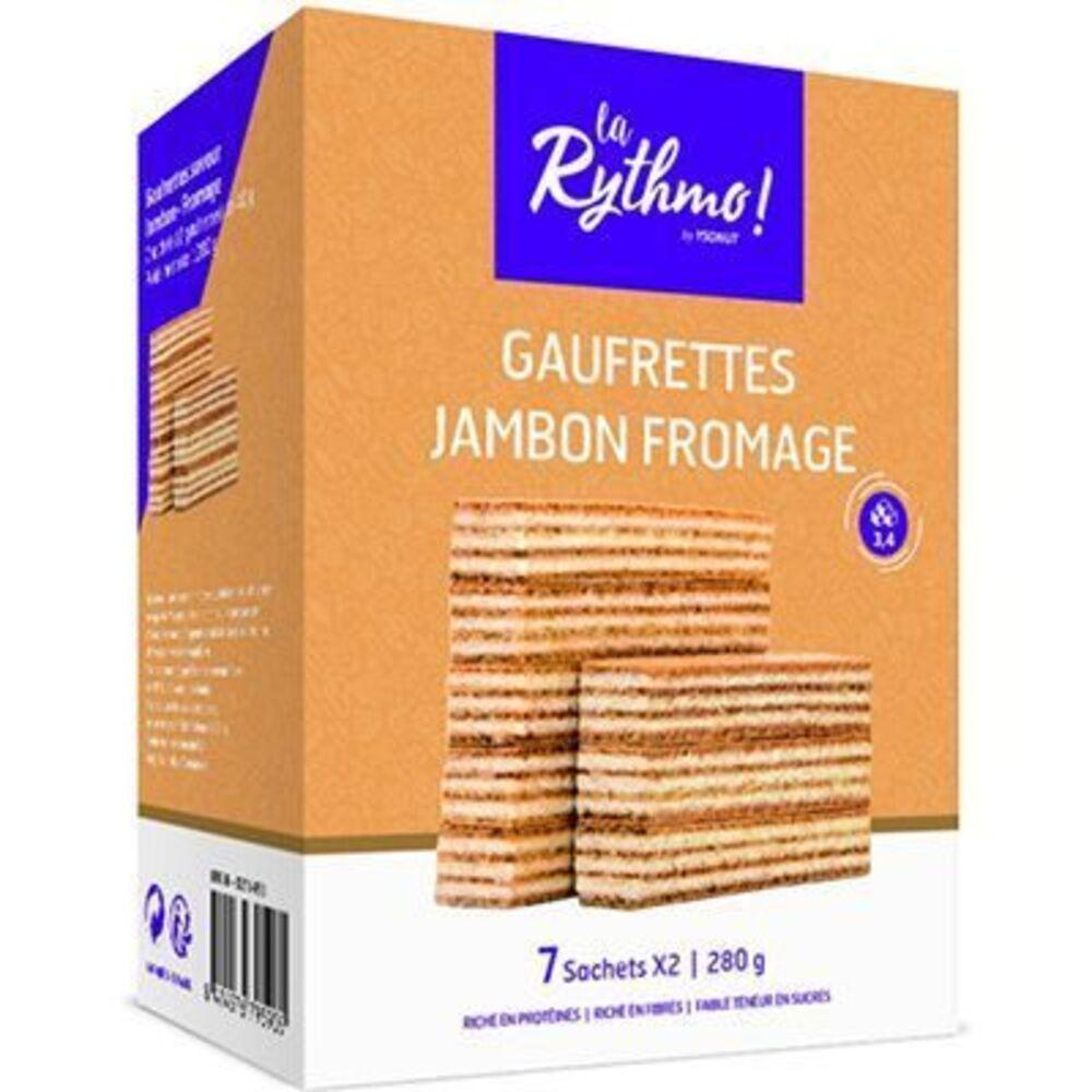 Ysonut la rythmo gaufrettes jambon fromage 7 sachets x2 - ysonut -221721
