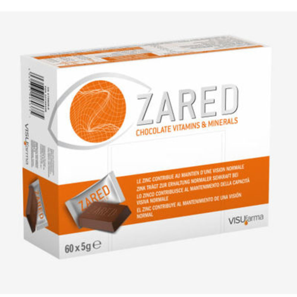 Zared chocolat - 60 carrés x 5g - visufarma -204786
